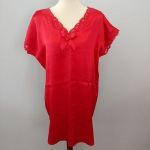 VINTAGE VICTORIA'S SECRET Red Nightgown, Size M